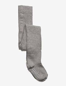 Non-slip Tights - non-slip socks - grey melange