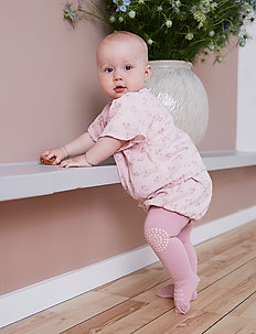 Crawling Tights - non-slip socks - dusty rose