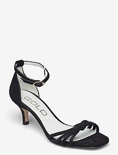 25340 - højhælede sandaler - rubio suede negro