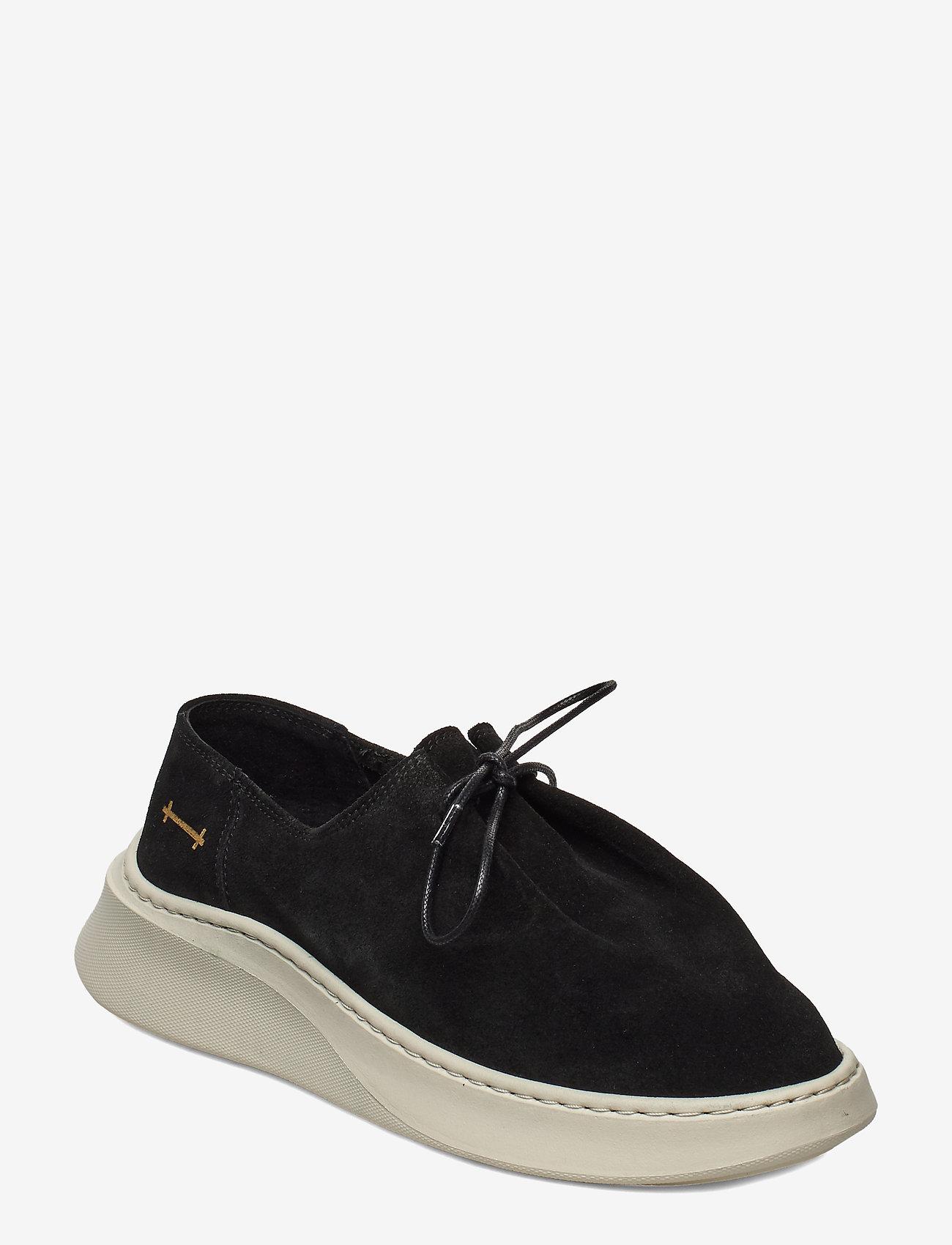 Gram - yatfai sneaker black suede - buty sznurowane - black - 0