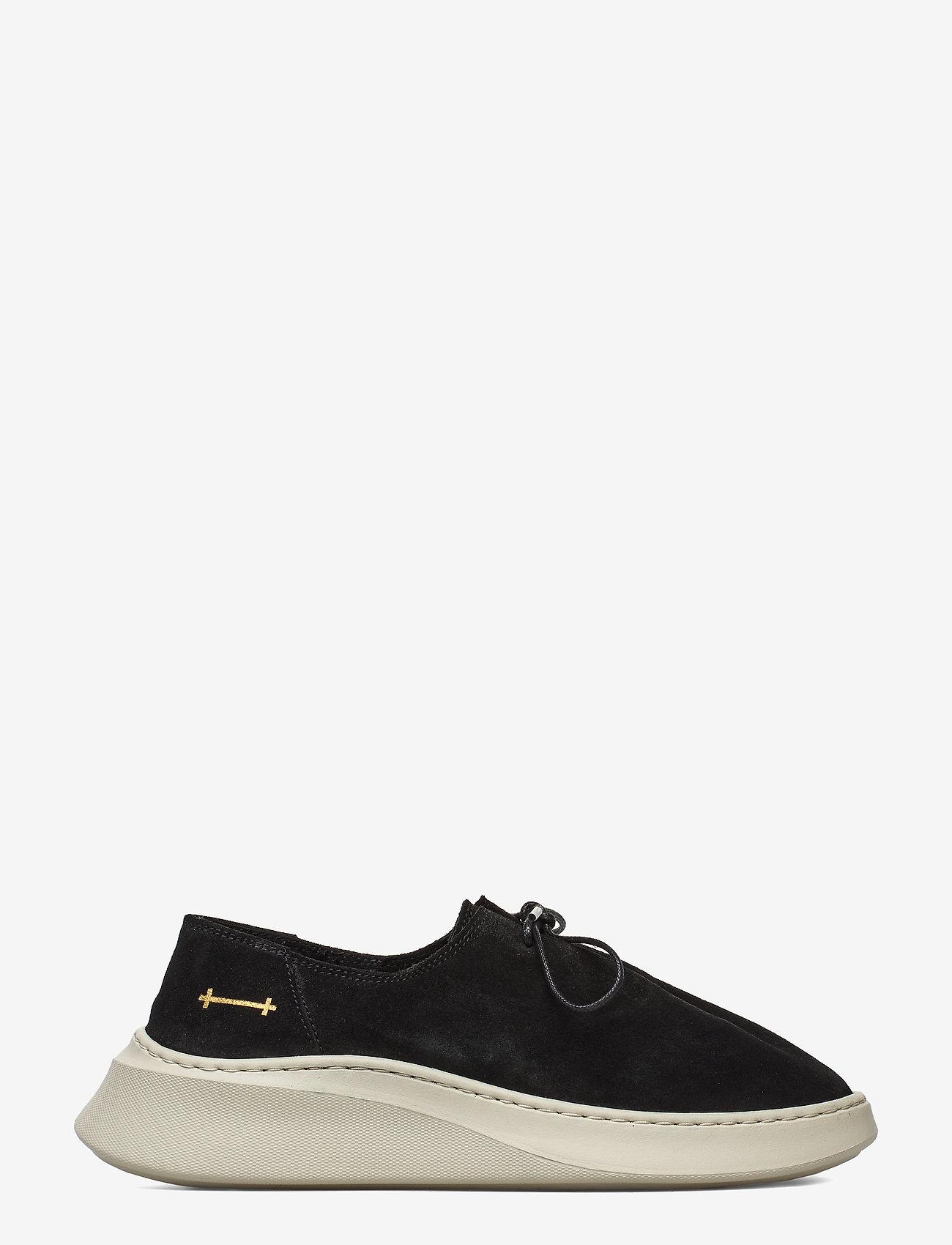 Gram - yatfai sneaker black suede - buty sznurowane - black - 1