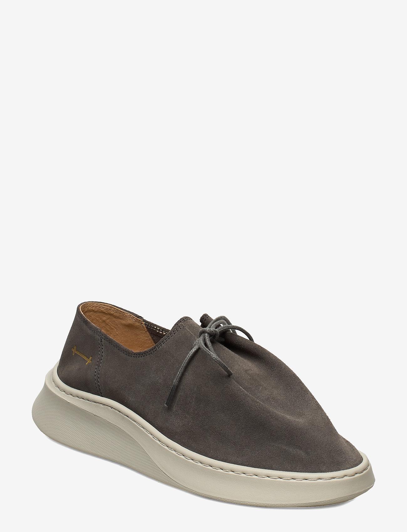 Gram - yatfai sneaker sage suede - buty sznurowane - sage - 0