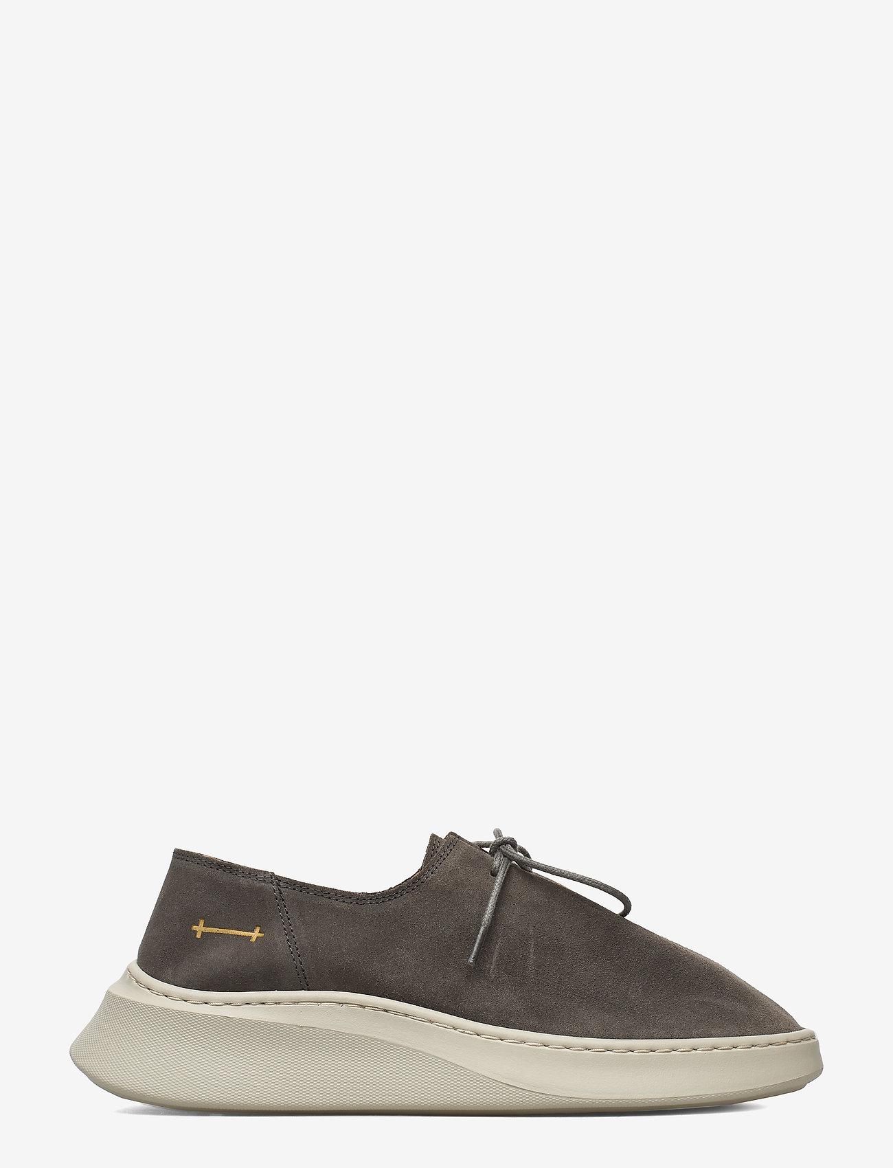 Gram - yatfai sneaker sage suede - buty sznurowane - sage - 1