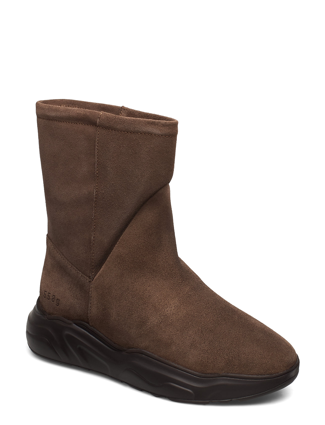 Image of 558g Boot Walnut Suede Shoes Boots Ankle Boots Ankle Boots Flat Heel Brun Gram (3230589145)