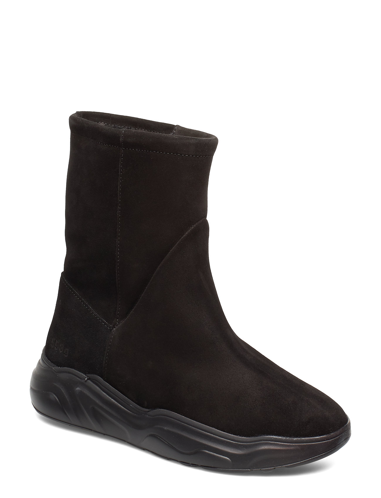 Image of 558g Boot Black Suede Shoes Boots Ankle Boots Ankle Boots Flat Heel Sort Gram (3229957159)