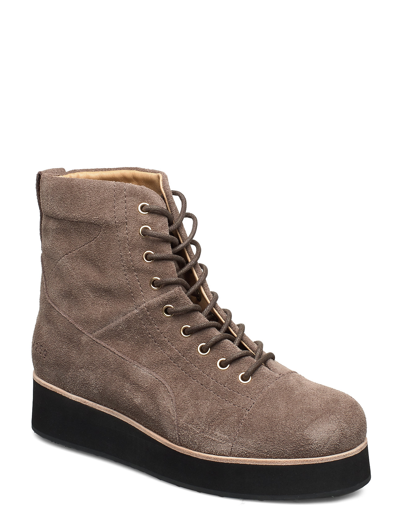 Image of 425g Walnut Suede Shoes Boots Ankle Boots Ankle Boot - Flat Brun Gram (3406234515)