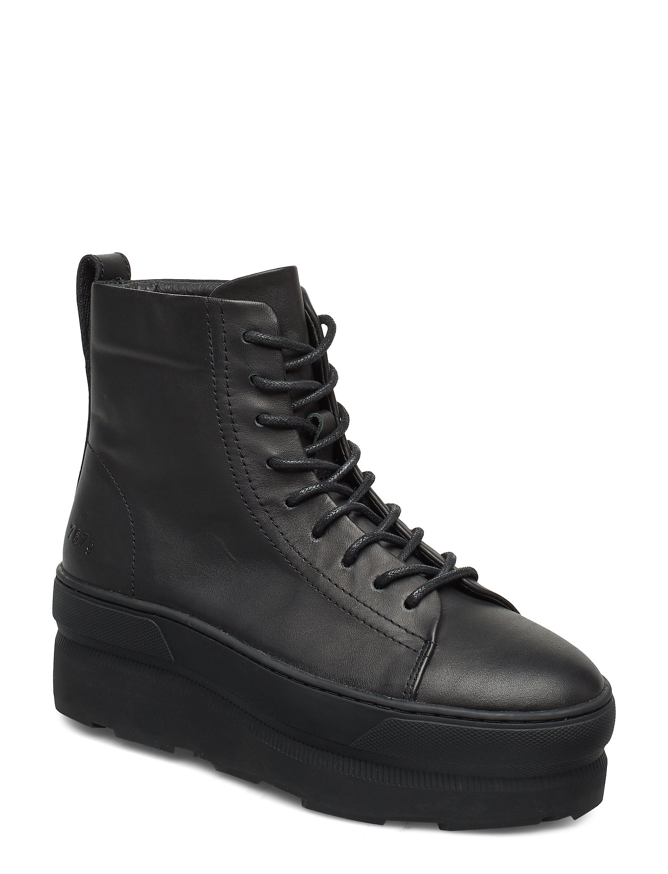 Image of 767g Black Leather Shoes Boots Ankle Boots Ankle Boot - Flat Sort Gram (3406234511)