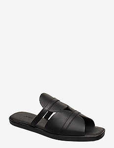 189g black leather - płaskie - black