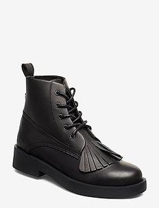 469g black full grain leather - BLACK