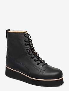 425g black leather - BLACK
