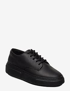 394g black leather - przed kostkę - black