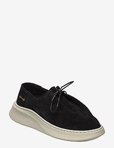 yatfai sneaker black suede - buty sznurowane - black