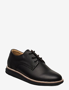 380g WA black leather - snøresko - black