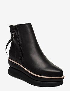 503g black leather - BLACK