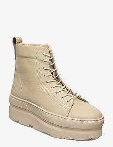 767g panna leather - flade ankelstøvler - panna