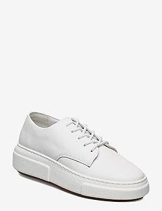 394g white leather - przed kostkę - white