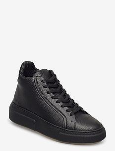408g black vegan leather - höga sneakers - black vegan leather