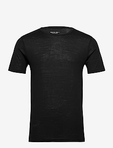 GTA CURVE WOOL TEE CREW - BLACK