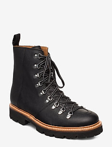 BRADY - laced boots - black