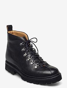 BOBBY - veter schoenen - black