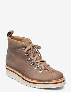 BOBBY - laced boots - taupe
