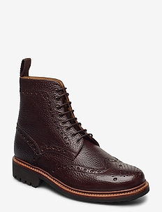 FRED - bottes lacées - dark brown