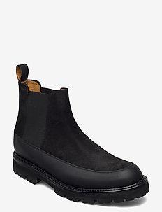 ABNER - støvler - black suede