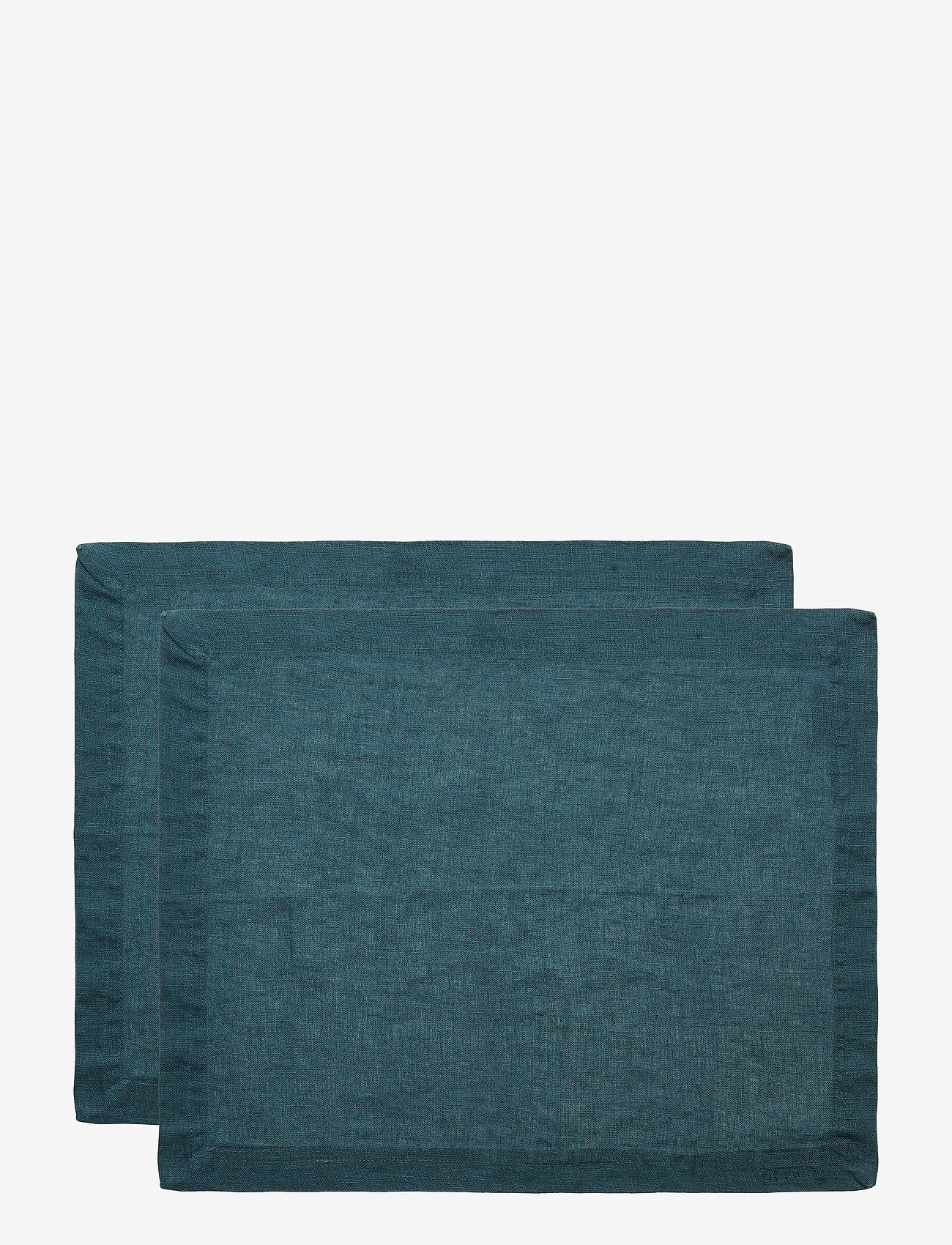 Gripsholm - Placemat Washed Linnen 2-pack - maty na stół - dark petrol - 1