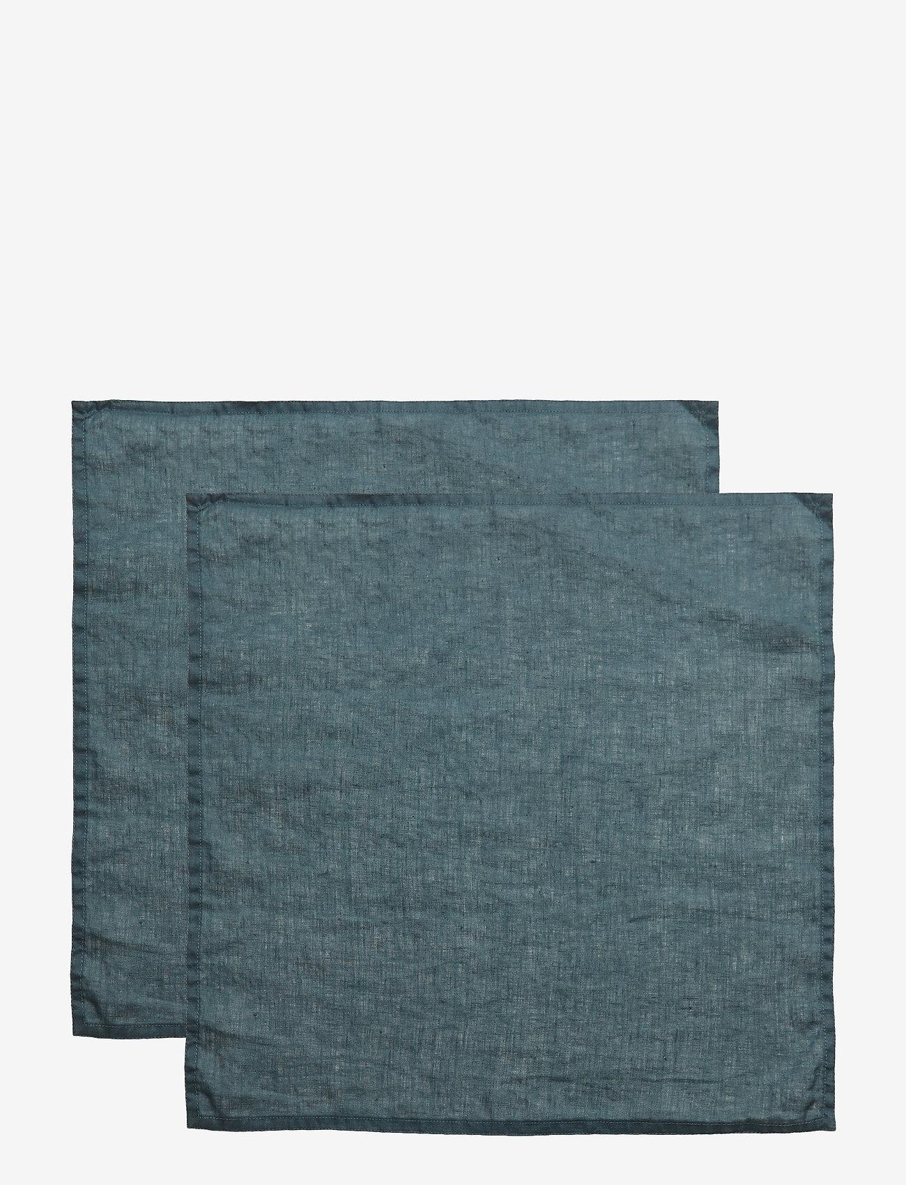 Gripsholm - NAPKIN WASHED LINEN - napkins - dark petrol - 0