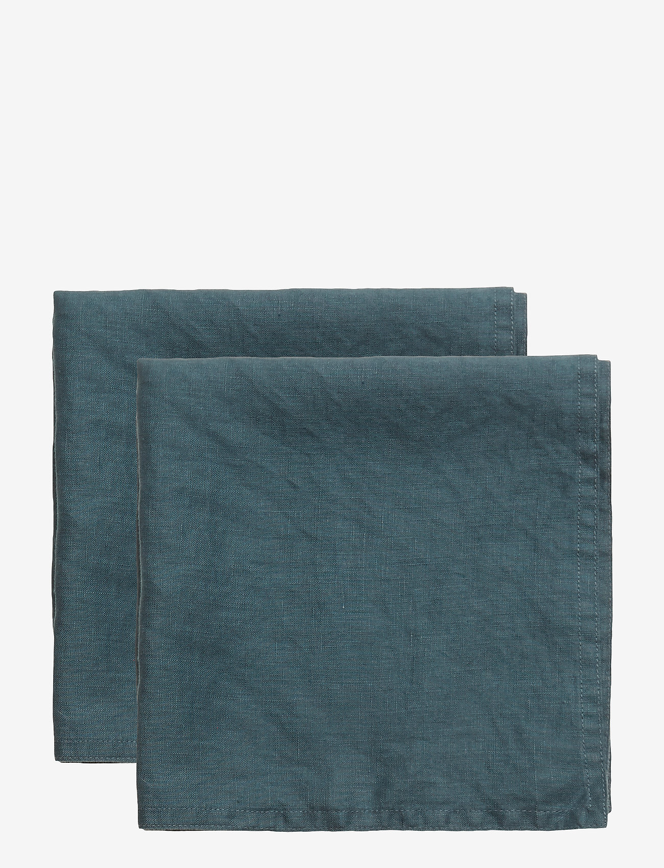 Gripsholm - NAPKIN WASHED LINEN - napkins - dark petrol - 1