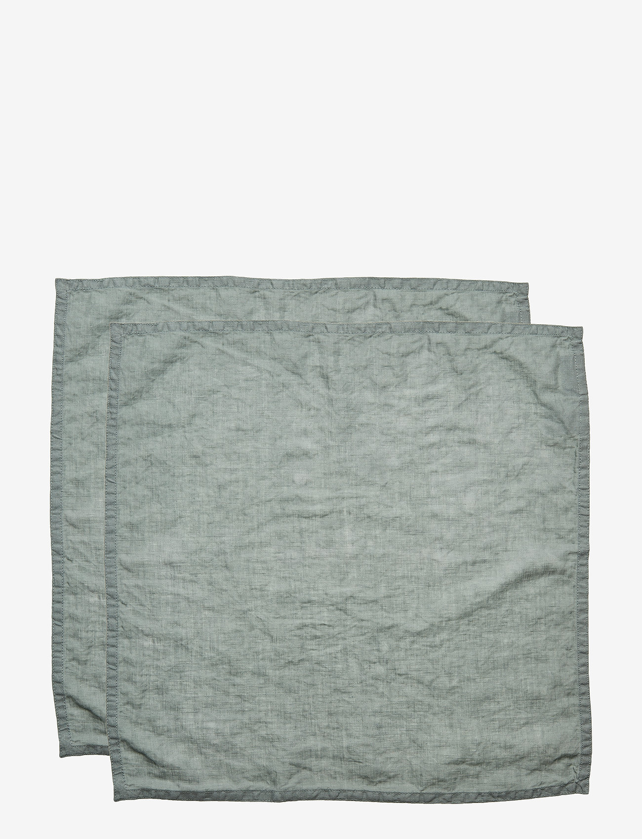 Gripsholm - NAPKIN WASHED LINEN - napkins - lily green - 0
