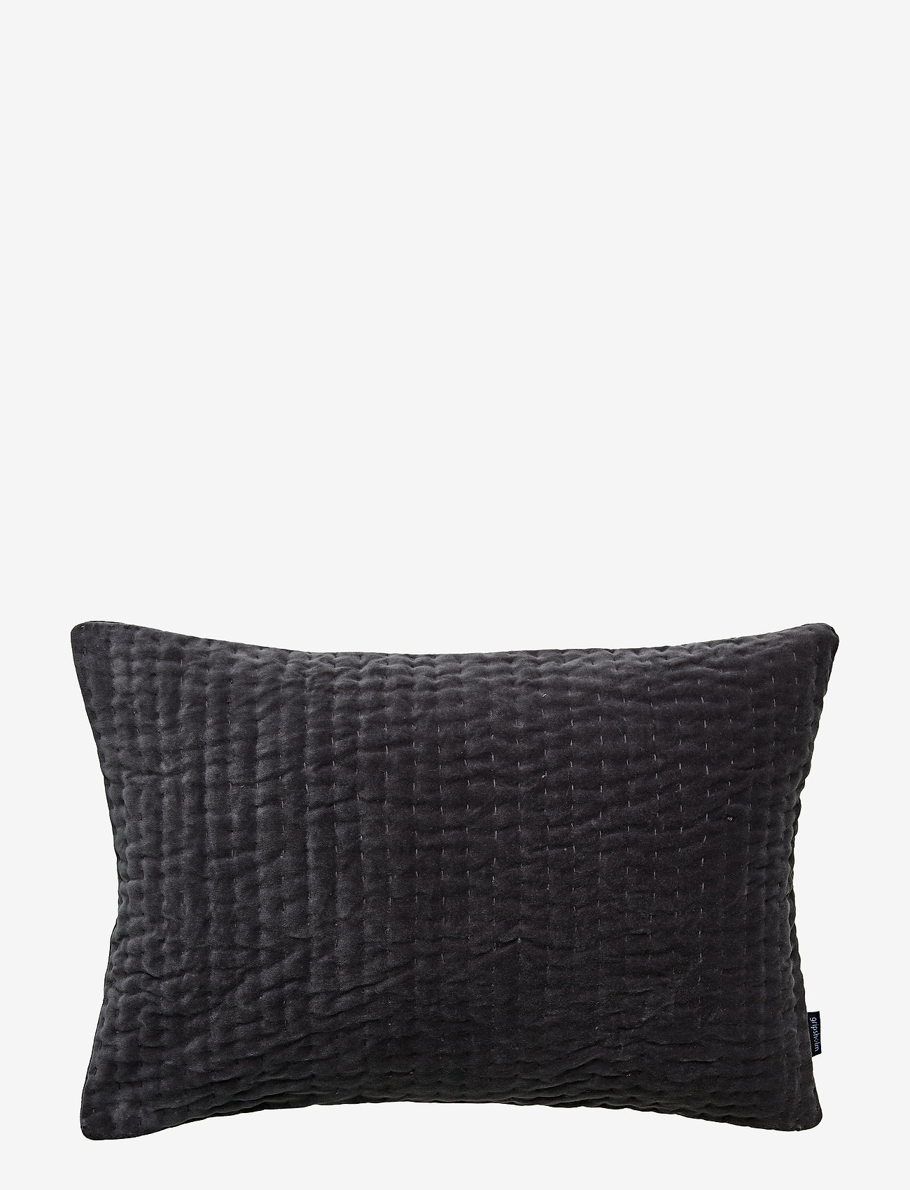 Gripsholm - CUSHION COVER ELLIOT GOTS - tyynyliinat - anthracite