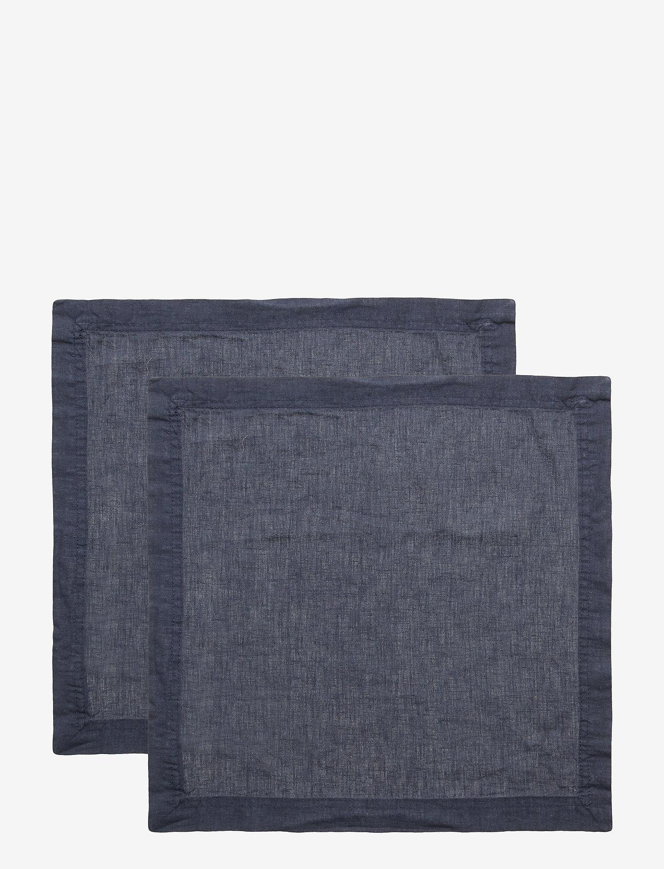 Gripsholm - NAPKIN LINEN BLEND - napkins - ombre blue - 0