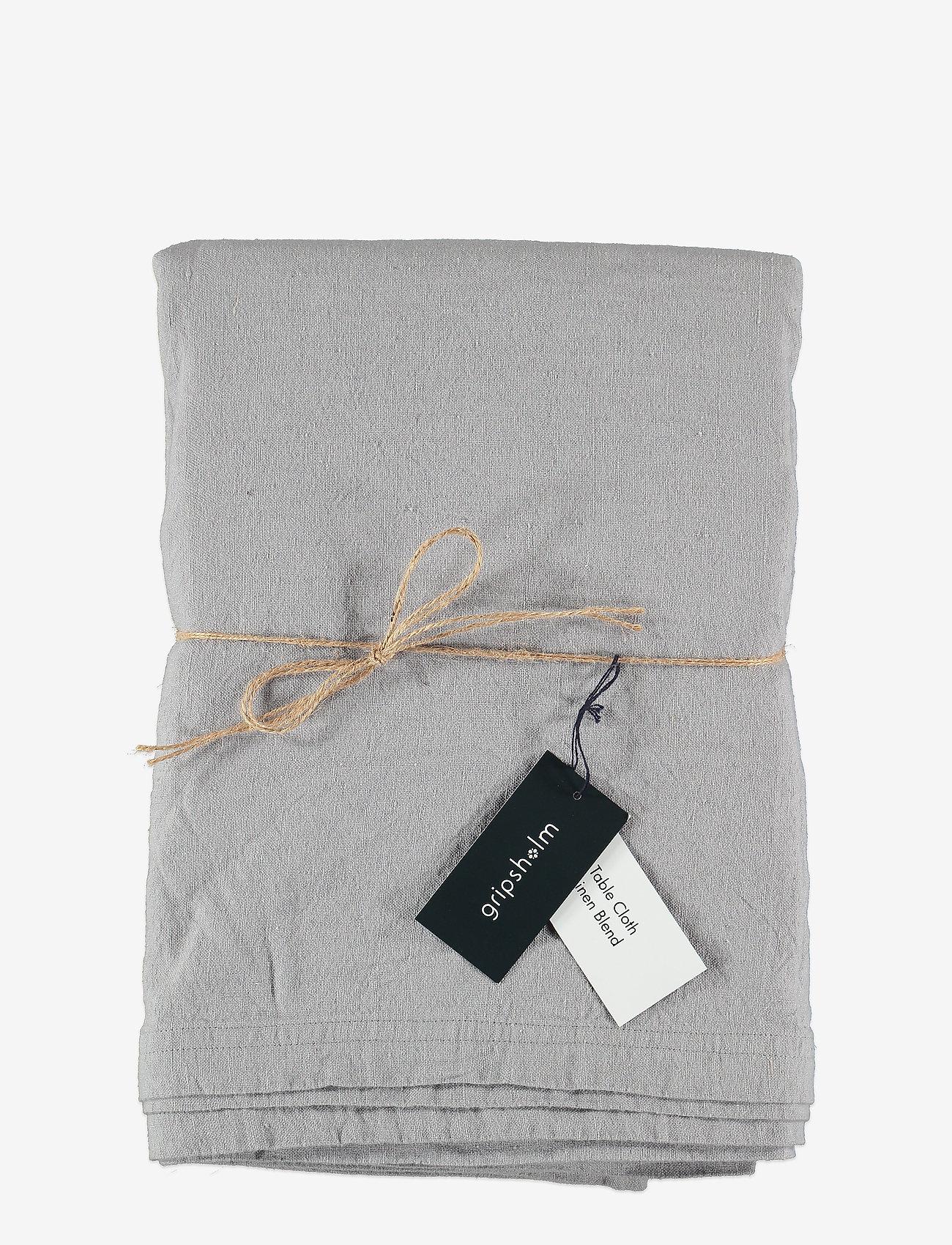 Gripsholm - TABLE CLOTH SOLID SMOKE 145X300 - duker & løpere - smoke - 0