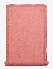Gripsholm - Runner Washed Linen - wystrój domu - witherd rose - 1