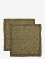 Gripsholm - NAPKIN LINEN BLEND - napkins - forest green - 0