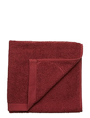 TOWEL COTTON LINEN - PORT RED