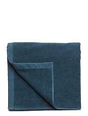BATH TOWEL COTTON LINEN - DARK PETROL