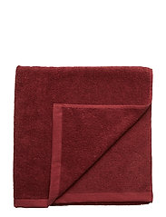 BATH TOWEL COTTON LINEN - PORT RED