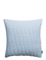 CUSHION COVER QUILTED - ASH BLUE