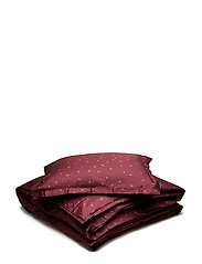 BED SET SATIN LISEN - WINE