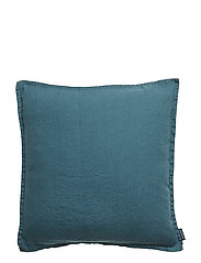 CUSHION COVER WASHED LINEN - DARK PETROL
