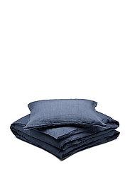 BED SET LINEN LEO - BLUE
