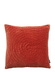 CUSHION COVER OSSIAN GOTS - BRICK RED