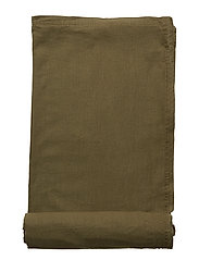 TABLE CLOTH LINEN BLEND - FOREST GREEN