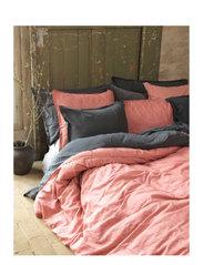 BED SET LINEN LEO K.SIZE - ASH ROSE