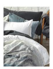 BED SET NOAH GOTS K.SIZE - OMBRE BLUE
