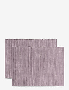 Placemat Malte 2-pack - placemats & glazen onderzetters - soft purple