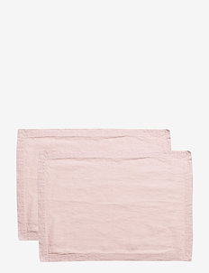 Placemat Washed Linnen 2-pack - placemats & glazen onderzetters - pink lilac