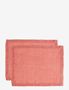 Placemat Washed Linnen 2-pack - dækkeservietter - witherd rose